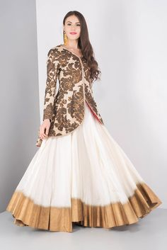 Buy for contact on whatapp jacket style lehenga set Indian Wedding Gowns, Indian Gowns, Pakistani Dresses, Choli Designs, Lehenga Designs, Blouse Designs, Indian Designer Outfits, Indian Outfits, Designer Dresses