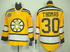 NHL Boston Bruins #30 Tim THOMAS 2010 Winter Classic Hockey Jersey - Yellow