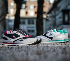 Le Coq Sportif Flash 89-Vintage Red and Dynasty Green