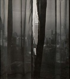 Fritz Henle / Empire State Building from my window at the Americana, c.1960