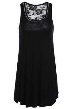 Black studded rose lace top #style #inspiration #fashion