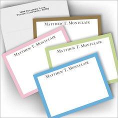 Pastel Border Correspondence Cards