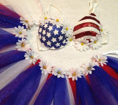 36B American Flag Rave Bra and Tutu Bustle - EDC Outfit on Etsy, $86.00