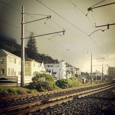 #muizenberg #falsebay #capetown #southafrica #trainline Photo Story, Cape Town, Railroad Tracks, South Africa, Westerns, Travel, Viajes, Destinations, Traveling
