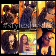 Vixen crochet braids with Janet collection 3x Caribbean Braid #stylesbyk!@