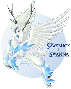 [Adopt] Winter Sawsbuck X Swanna [AUCTION] by Seoxys6.deviantart.com on @DeviantArt