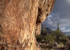 Native American Petroglyphs in Sonoran Desert of Southwestern Arizona, photo by Krieger Conradt