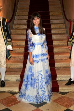 Italian actress Alessandra Mastronardi wearing a Valentino gown from the Fall/Winter 13-14 collection at the Valentino Ball at Palazzo Volpi during the 70th Venice International Film Festival on September 4th 2013 in Venice#modest