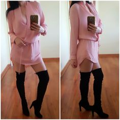"""Daisy"" Pink Draped Dress <3  Pinned from www.RedSplashBoutique.com/products/daisydress"