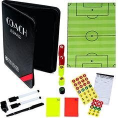 WINOMO Football Soccer Magnetic Tactic Coach ClipBoard Coaching Strategy Board Kit Accessories