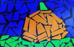 Art Projects for Kids: Mosaic Tape Pumpkin