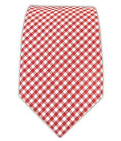 Petite Gingham - Red (Cotton) Tie Bar