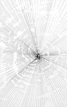 Abdelkader Benchamma: Carte perdue, 2011, Tuschestift auf Papier, 50 x 32 cm