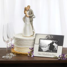 Wedding Cake Topper and Frame by Roman Wedding Cake Toppers, Wedding Cakes, Wedding Anniversary, Roman, Bridal Shower, Favors, Wedding Dresses, Frame, Gifts