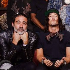 "thewalkingdead-hq: ""Jeffrey Dean Morgan and Norman Reedus """