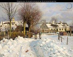 Peder Mørk Mønsted (1859-1941): A Winter Landscape