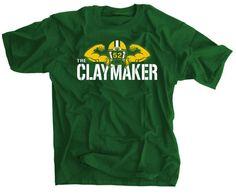 b0550b81f The ClayMaker Clay Matthews Green Bay Packers Shirt by SportsCrack, $19.99 Green  Bay Packers Shirts