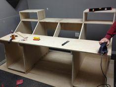 Post with 21895 views. My Custom Built Recording Desk for Analog Synths Home Studio Desk, Music Studio Room, Studio Setup, Audio Studio, Studio Design, Recording Studio Furniture, Recording Studio Home, Diy Computer Desk, Pc Desk