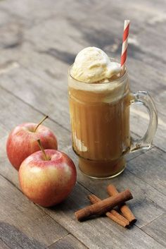 Apple Cider Floats....delish....gotta make on for Adam this fall. He's been missing out!