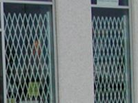 Folding gate for Storefront Security - Glassessential.com  http://www.glassessential.com/security-scissor-folding-gate  #folding #gate #door #foldinggate #expandable #collapsible #security #expandablegate #collapsiblegate #securitygate #storefront #patio #divider #enclosure #storage #access #accesscontrol #shipping #receiving
