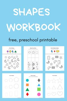 Free, printable preschool shapes workbook for kids to learn about shapes. Shapes activity pages, color by shapes, shape tracing workbook pages. Preschool shapes printable practice for home, homeschool, classroom, summer, and more. #preschoolshapesactivities#preschoolshapesprintablefree#preschoolshapesworksheet#preschoolshapesprintables#shapesprintables#shapesactivitypages#printableshapes#preschoolshapesactivity Preschool Shapes, Teaching Shapes, Free Preschool, Help Teaching, Early Learning Activities, Pre K Activities, Preschool Education, Learning Resources, Weather Science