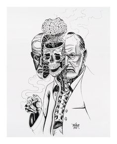 Street artist Nychos dissects pop culture icons in anatomical portraits at the Jonathan LeVine Gallery.
