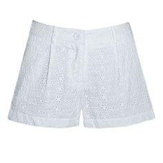White Eyelet Lace Shorts
