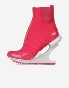 Adidas The Y-3 Oriah ankle boot hugs the curves of the foot with a stretchy suede-on-mesh sock. A futuristic, femme fatale heel cushions impact. Upper: air mesh with soft patent leather accents and goat suede. Lining: mesh and monogrammed goat leather.