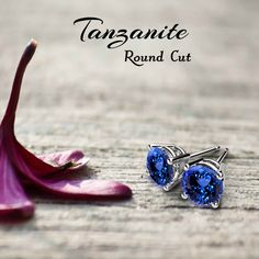 Round Tanzanite Studs Earrings make your outlook more graceful.