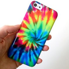 TIE DYE iphone 5c case, rainbow iphone case, tie dye case, hippy tie dye, colourful iphone 5c cover, 90s phone case, cool pattern, geometric