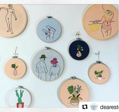 I do like what @dearestq is getting up to! #regram  Views from the studio. #handembroidery #hoopla #plants #socks #nude #creativityfound #mrxstitch via The Mr X Stitch official Instagram  Share your stitchy 'grams with us - @mrxstitch #xstitchersofinstagram #mrxstitch