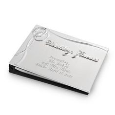 Personalized Double Rings Guest Book , Add Your Message