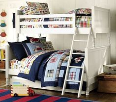 Catalina Cottage Twin-Over-Full Bunk Bed & Drawer Chest Set, Simply White