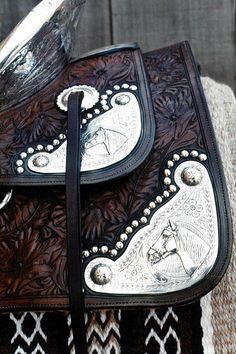 Ricotti saddlery custom silver (Ricotti is a custom shop in California)
