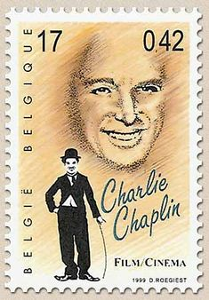 belgian stamps voyage trough the 20st century Charlie Chaplin