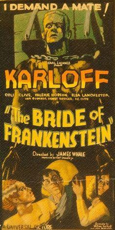 Bride of Frankenstein New 12x18inch 1935 Classic Old Horror Movie Silk Poster