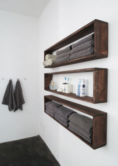 Who need extra storage? Everyone, I guess. So I made those wall shelves to…