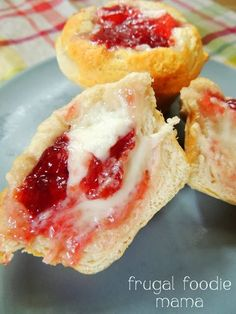 Cherry Cream Cheese Danish Muffins- you need just 4 ingredients and less than 30 minutes to make these!