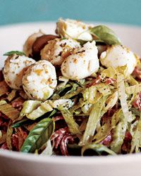 Antipasto Salad with Bocconcini and Green-Olive Tapenade Recipe from Food & Wine