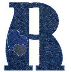 Alfabeto vaquero de corazones.R mayuscula
