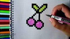 """Résultat de recherche d'images pour """"pixel art facile nourriture"""""""