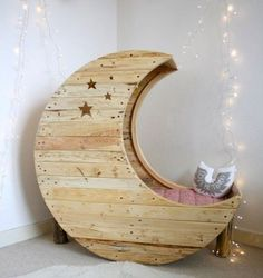 a beautiful moon crib or bed