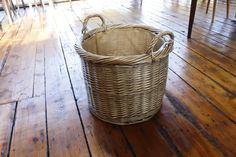 We've got some great solid wicker baskets in now. Whether to throw some logs into or brighten up with some spare cushions and throws for when visitors arrive. Now in store!