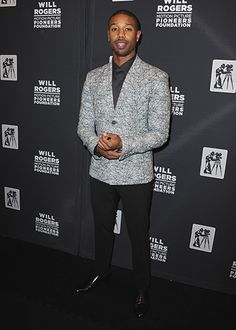 GQ.com: Michael B. Jordan in Las VegasThe jacket is kind of inaccessibly high-fashion, but you know what? we like it anyway. Play on, MBJ..