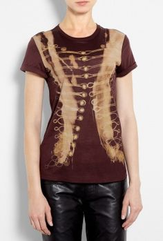Burnt Oxblood Boyfriend T-Shirt by McQ