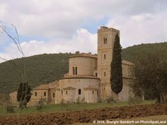 Abbazia di S.Antimo, Castelnuovo dell'Abate (SI), Tuscany, Italy.  The Abbey of Sant'Antimo is a former Benedictine monastery in Tuscany, central Italy. It's foundation dates to the time of Charlemagne. It is approximately 9 km from the Via Francigena, the pilgrim route to Rome. Photo by Giorgio Sandorfi on PhotoSpotLand.com  See more at http://www.photospotland.com/spots/189