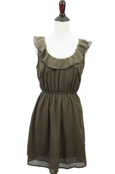 Heart on My Sleeveless Brown Dress@Lauren Pedersen this would be cute in another color!