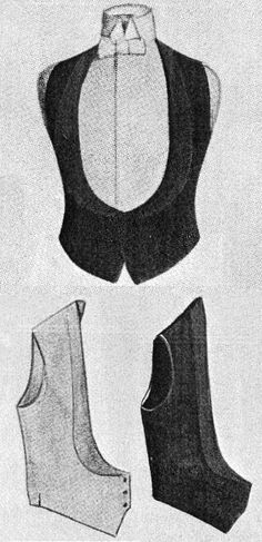 1915 Brooks Brothers evening waistcoats with increasingly rare example of black vest being worn with full dress