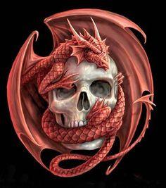 #tatoo #skull #dragon #caveira
