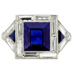 Art Deco Sapphire Ring by AislingH